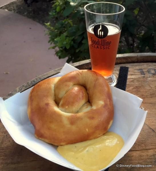 The Beer Garden -- Beer and Soft Pretzel