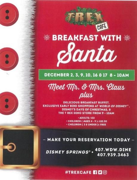 Breakfast with Santa @DisneySprings Twitter Account