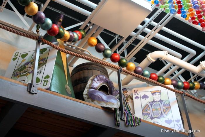Mardi Gras decor makes an appearance