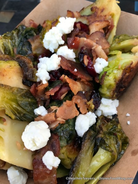 Brussels Sprouts with Goat Cheese, Cranberries, and Bacon