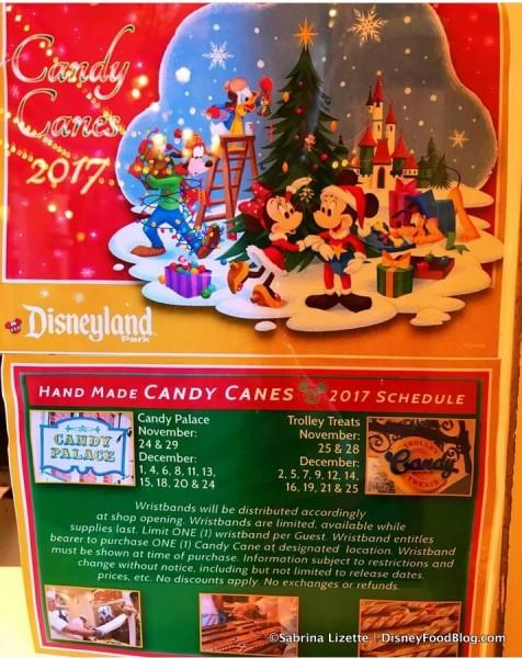 Disneyland Candy Cane Information 2017