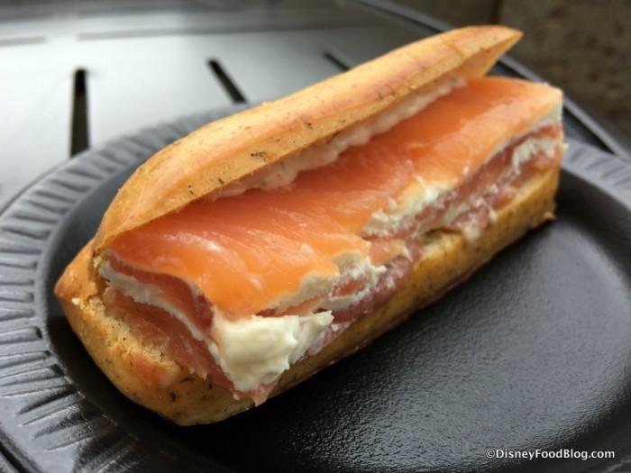 Smoked Salmon Napoleon in a Dill Brioche
