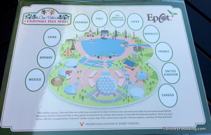 Chip & Dale's Christmas Tree Spree Map
