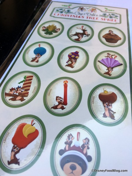 Chip & Dale's Christmas Tree Spree Map Stickers
