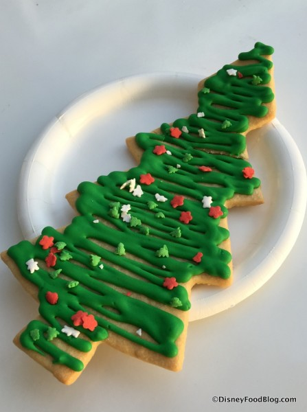 Holiday Tree Sugar Cookie
