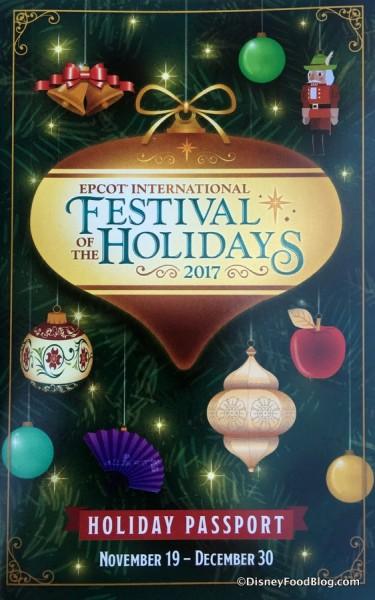 Epcot Festival of the Holidays Passport 2017