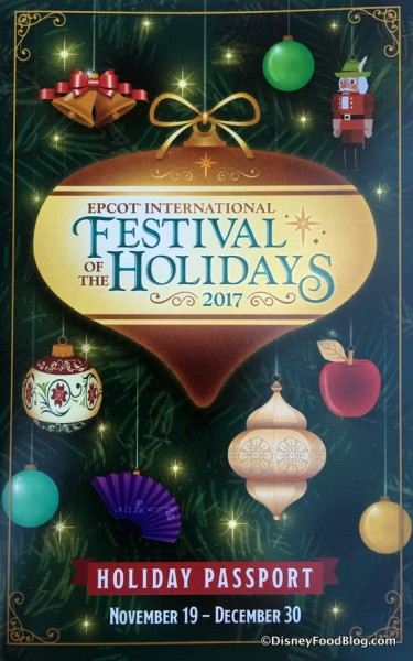 Epcot Festival of the Holidays Passport 2017