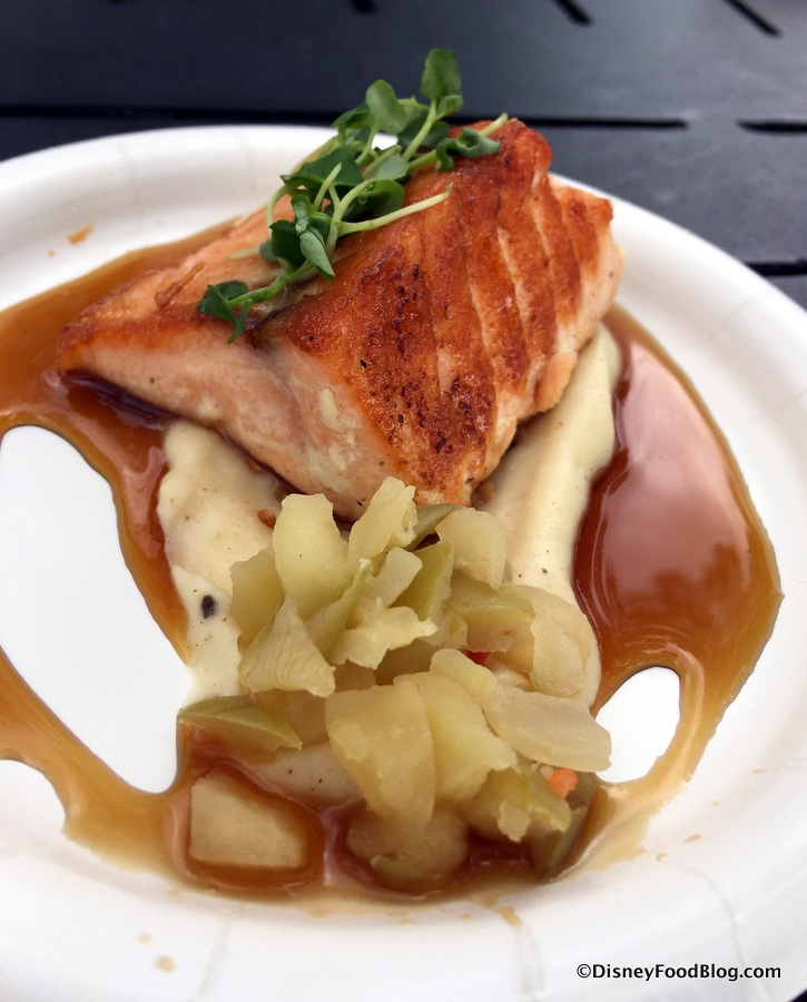 2018 epcot festival of the holidays yukon holiday kitchen the seared salmon with crown royal whiskey glaze forumfinder Image collections