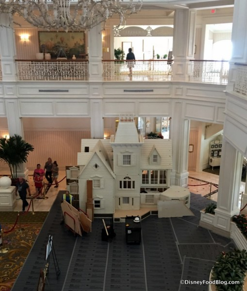 2017 Grand Floridian Gingerbread House In Progress  (Early November)