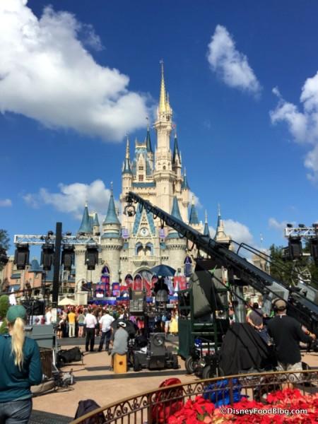 magic kingdom christmas filming in 2017