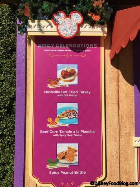 Spicy Celebrations booth menu