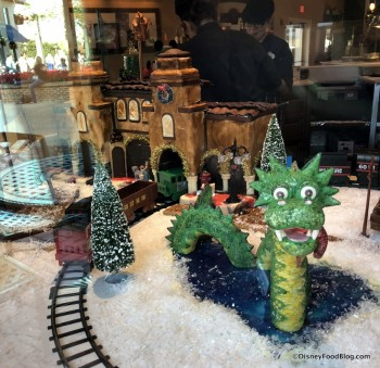 Gingerbread Display at Amorette's Patisserie