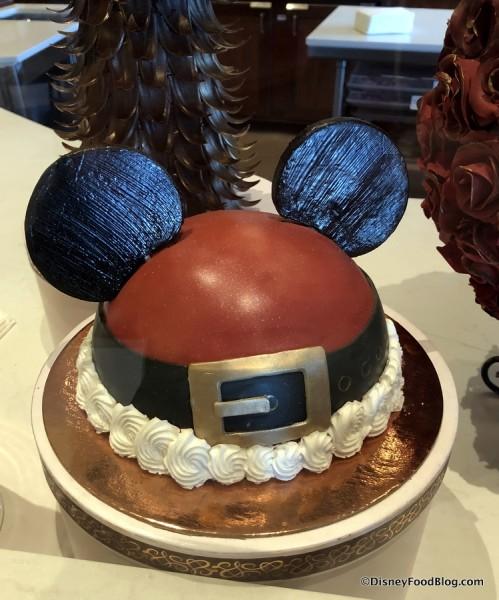 Santa Mickey Dome Cake