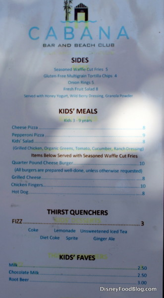 Sides and Kids' Meals