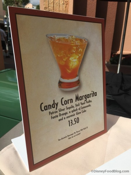 Candy Corn Margarita Sign