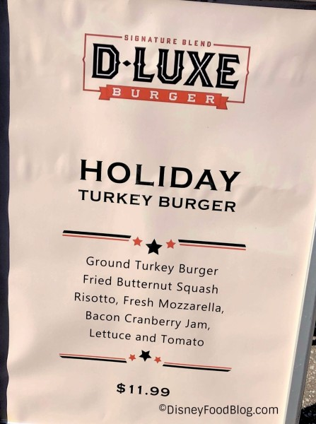 D-Luxe Holiday Turkey Burger