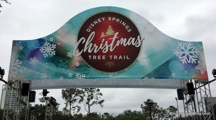 Christmas Tree Trail sign