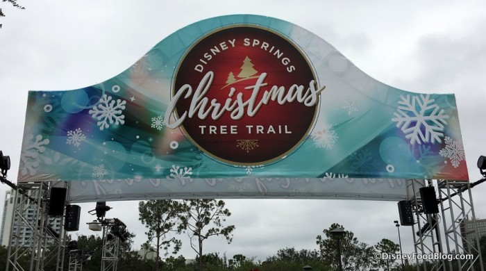 Christmas Tree Trail sign