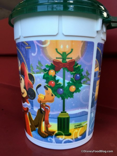 2017 Happy Holidays Popcorn Bucket