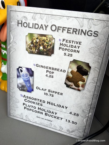 Popcorn Cart Holiday Offerings