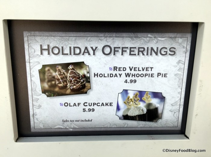 Holiday Offerings Sign at Fairfax Fare