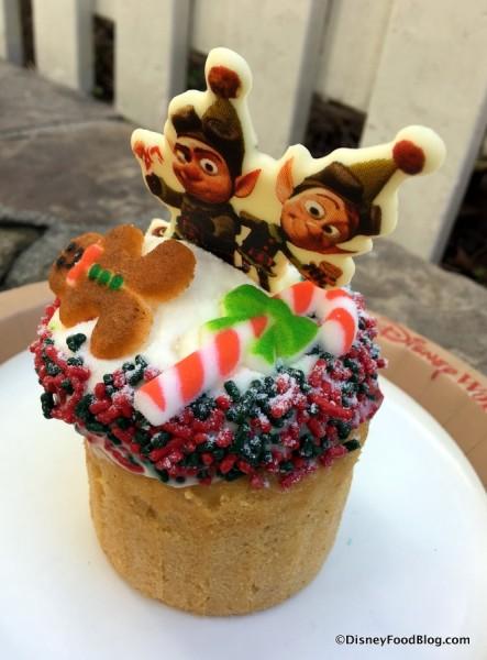 Prep and Landing Gingerbread Cupcake