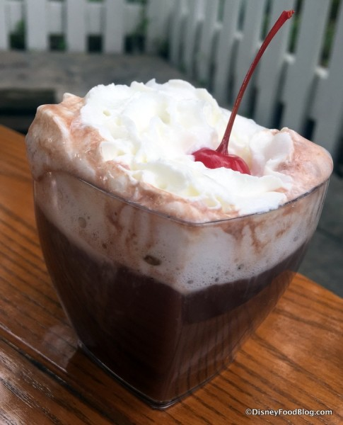 Black Cherry Bourbon Hot Chocolate