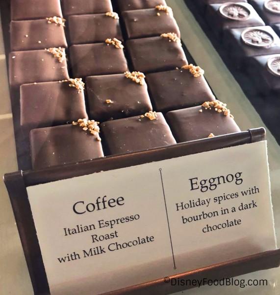 Coffee and Eggnog Chocolates