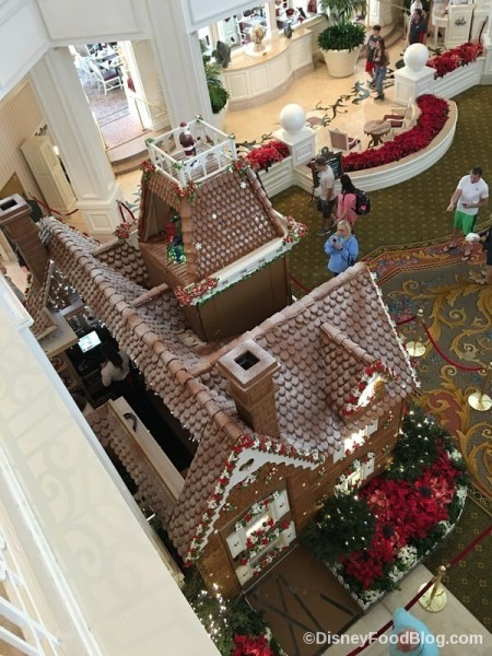 Up on the rooftop of the Grand Floridian Gingerbread House