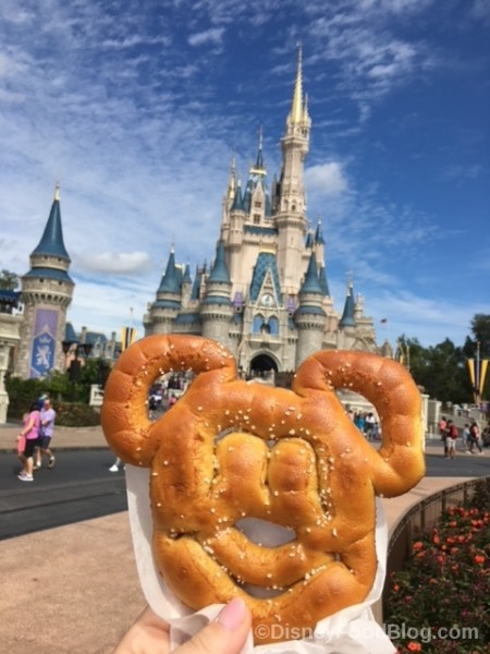 Mickey Pretzel and Cinderella's Castle