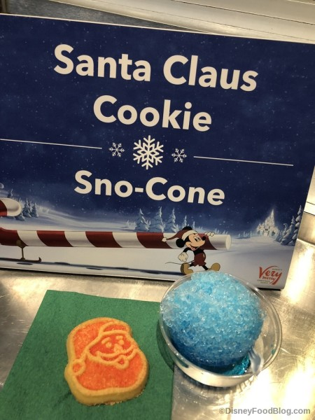 Santa Cookie and Snow Cone