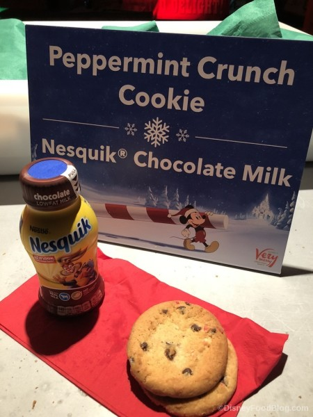 Chocolate Milk and Peppermint Crunch Cookie