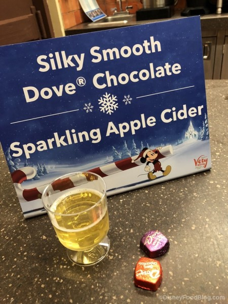 Dove Chocolates and Sparkling Cider