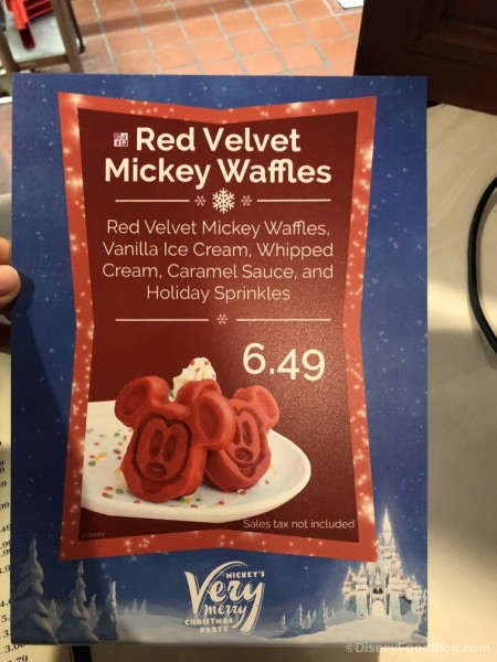 Mickey Red Velvet Waffles