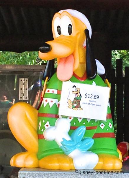 Pluto Christmas Popcorn Bucket