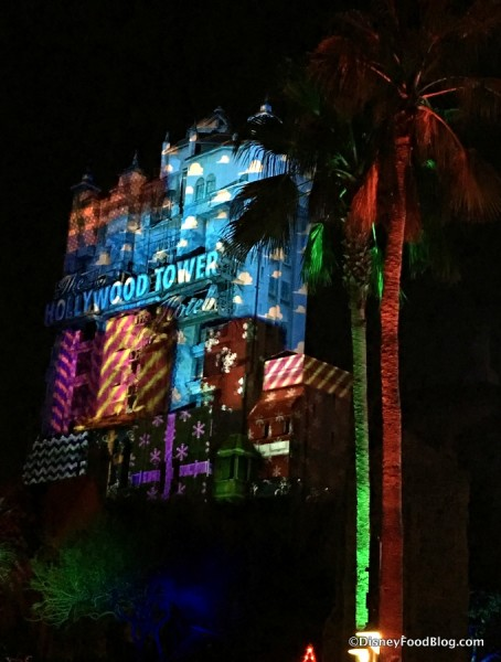 Toy Story Projections on the Tower of Terror