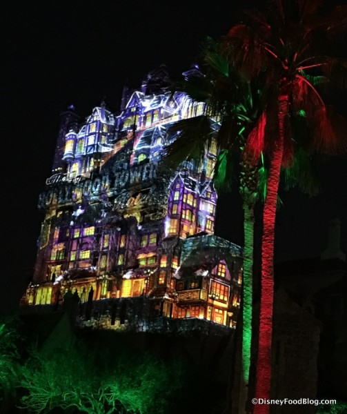 Projections on the Tower of Terror