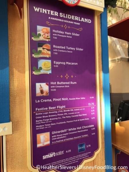 Booth menu