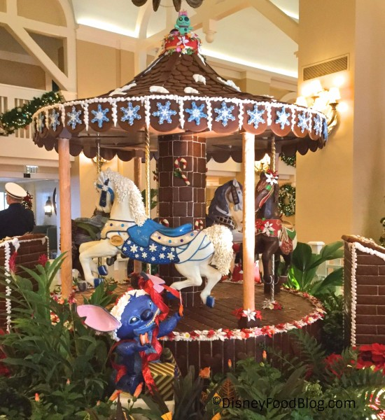 Gingerbread Carousel at Disney's Beach Club