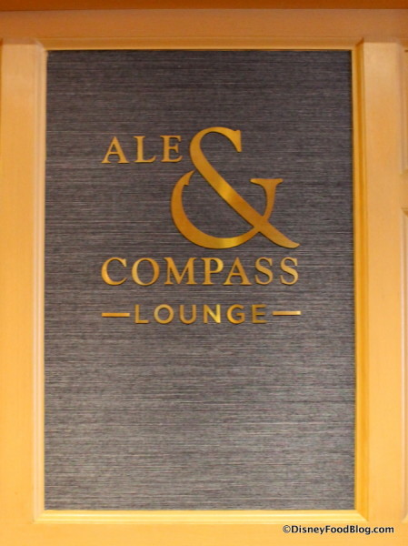 Ale & Compass Lounge sign
