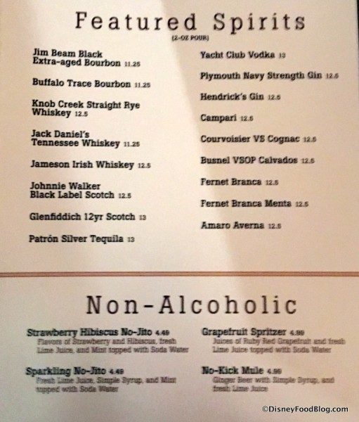 and Non-Alcoholic Drinks