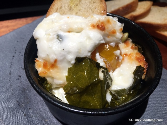 Grape Leaf-wrapped Baked Goat Cheese