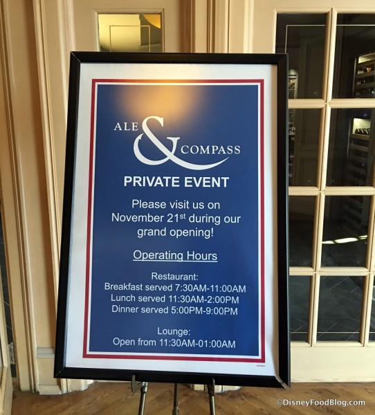 Ale & Compass Event sign