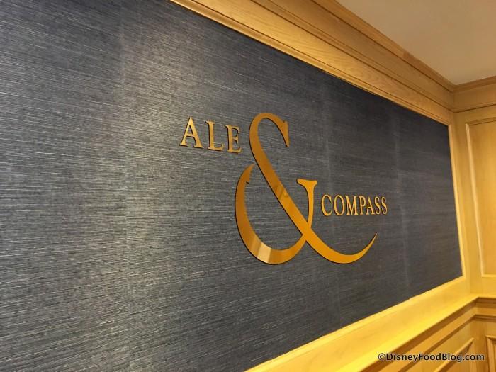 Ale & Compass Restaurant sign