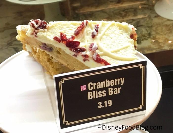 Cranberry Bliss Bar