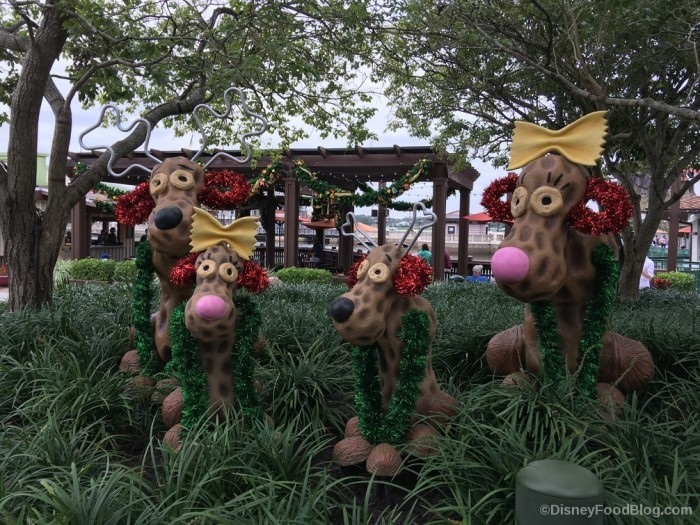 Disney Springs Reindeer Decor