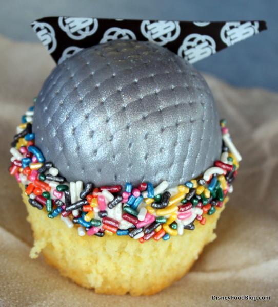 Epcot 35th Anniversary Spaceship Earth Cupcake