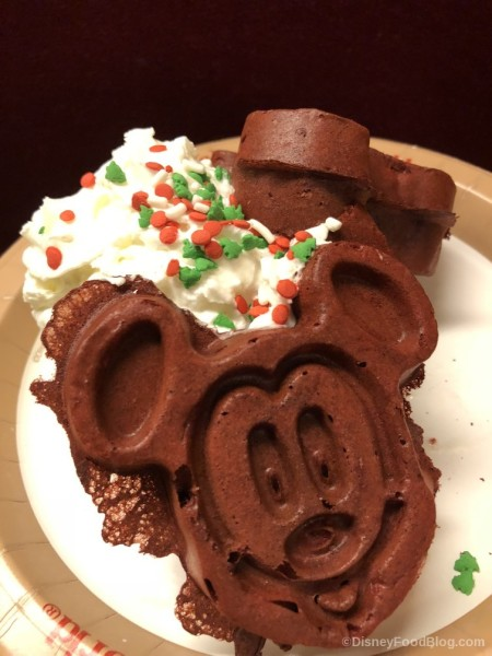 Red Velvet Mickey Waffles