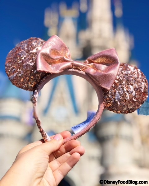Rose Gold Minnie Ears!
