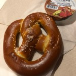 Review: New Warm Salted Caramel-Stuffed Pretzel at The Lunching Pad in Magic Kingdom